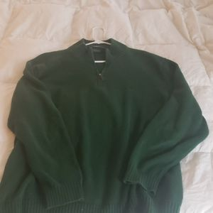 Polo Ralph Lauren dark green quarter zip sweater